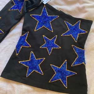 Hand made sequined top